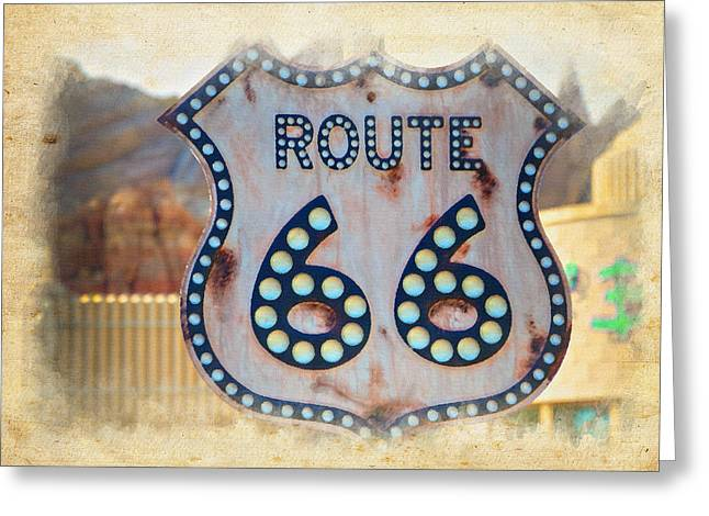 California Adventure Park Greeting Cards - Route 66 Greeting Card by Ricky Barnard