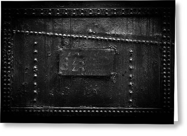 Urban Images Pyrography Greeting Cards - Rusted metal texture closeup photo Greeting Card by Oliver Sved