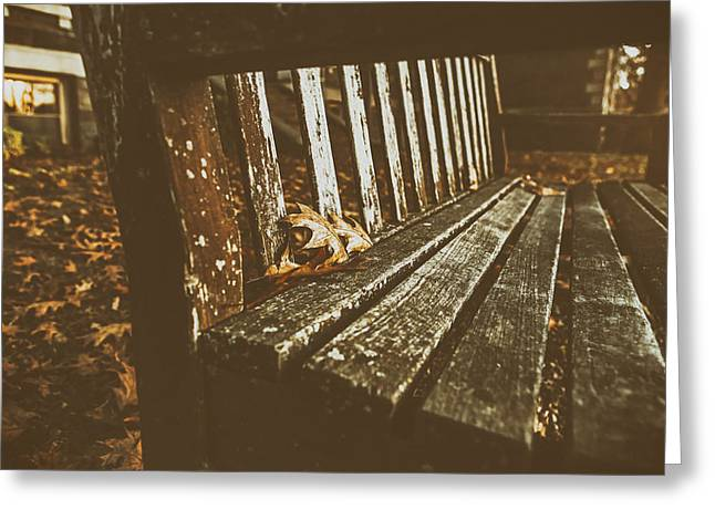 Resting Spot Greeting Cards - Rustic Autumn Greeting Card by Ryan McGuire