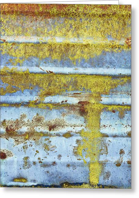 Metallic Sheets Greeting Cards - Rusty metal Greeting Card by Tom Gowanlock