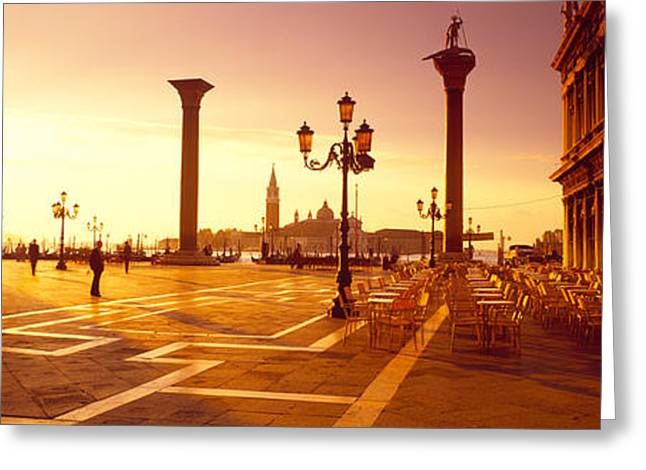 Historic Statue Greeting Cards - Saint Mark Square, Venice, Italy Greeting Card by Panoramic Images
