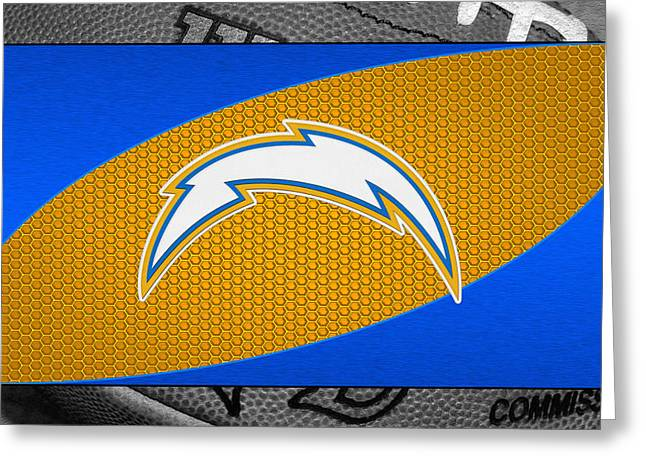 Chargers Greeting Cards - San Diego Chargers Greeting Card by Joe Hamilton