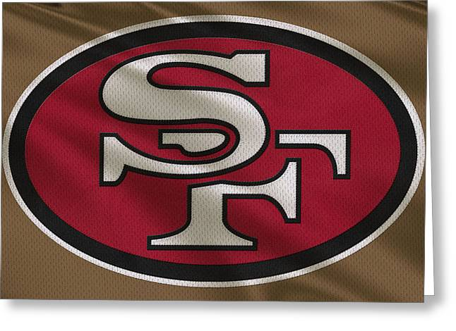 San Francisco Greeting Cards - San Francisco 49ers Uniform Greeting Card by Joe Hamilton