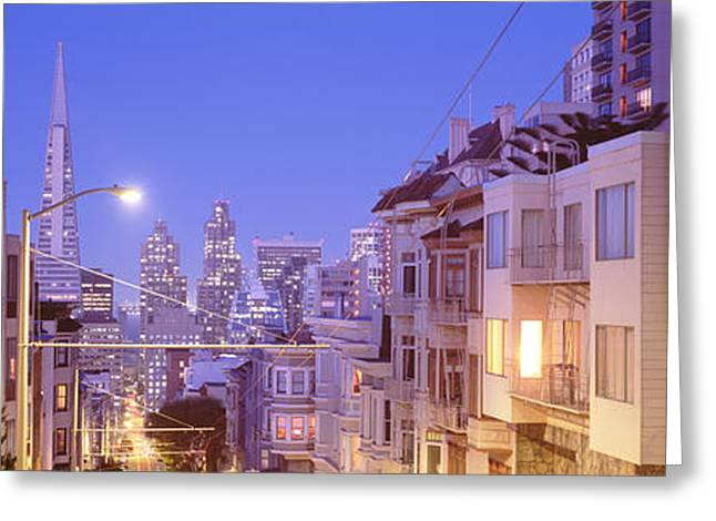 Frisco Greeting Cards - San Francisco Ca Greeting Card by Panoramic Images