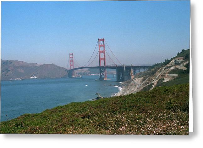 California Beach Art Greeting Cards - San Francisco - Golden Gate Bridge Greeting Card by Frank Romeo