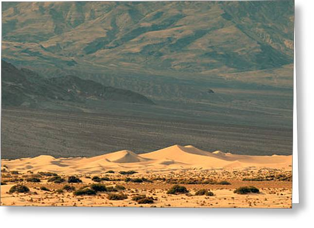 Mojave Desert Greeting Cards - Sand Dunes In A Desert, Death Valley Greeting Card by Panoramic Images