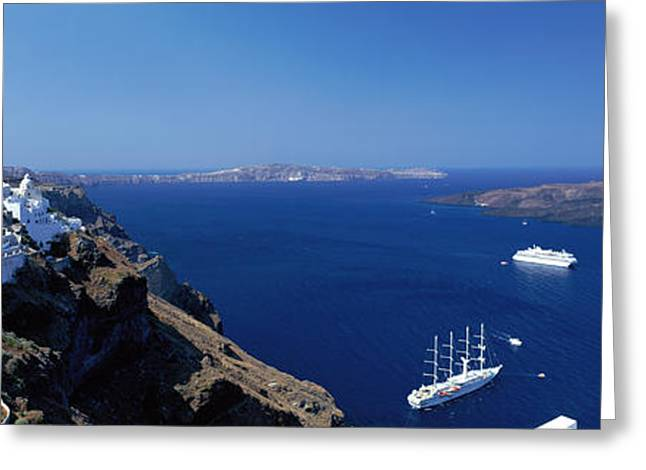 Santorini Greece Greeting Card by Panoramic Images