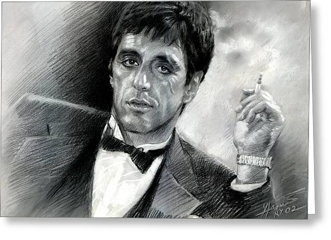 Scarface Greeting Cards - Scarface Greeting Card by Viola El