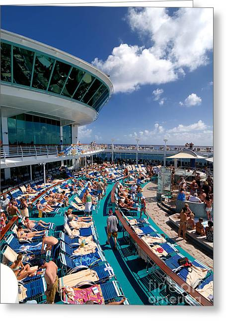 Adventure Of The Seas Greeting Cards - Sea Day Adventure of the Seas Greeting Card by Amy Cicconi