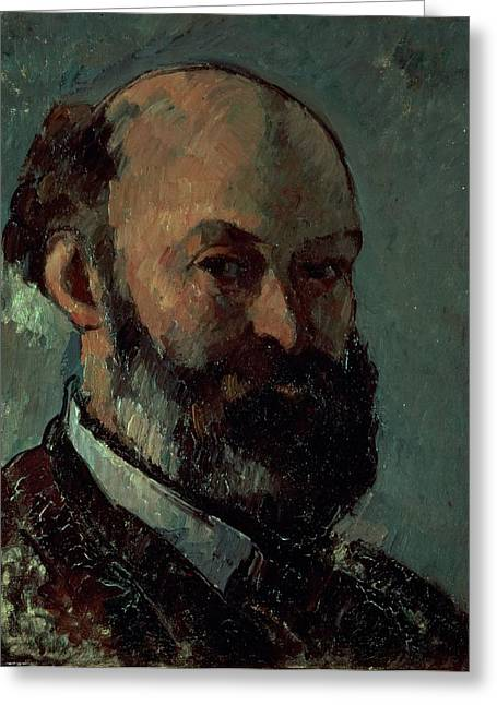 Artist Photographs Greeting Cards - Self Portrait Greeting Card by Paul Cezanne