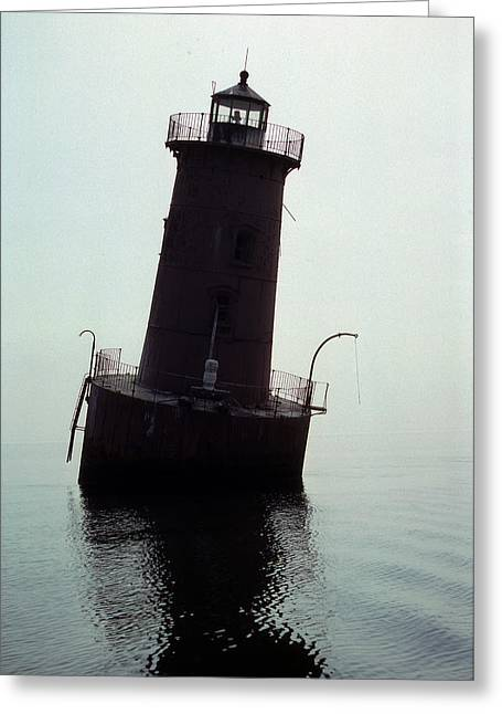 Anomalies Greeting Cards - Sharps Island Lighthouse Greeting Card by Skip Willits