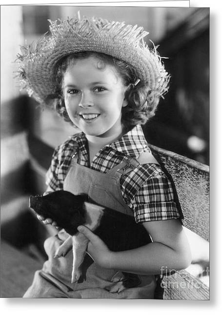 Shirley Temple Greeting Cards - Shirley Temple Greeting Card by MMG Archive Prints