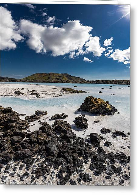 Geothermal Greeting Cards - Silica Deposits In Water By The Greeting Card by Panoramic Images
