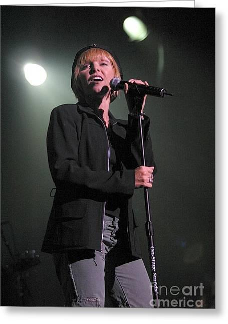 Benatar Greeting Cards - Singer Pat Benatar Greeting Card by Front Row  Photographs