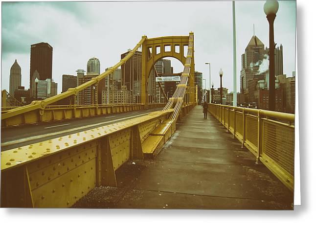 Sixth Street Bridge - Pittsburgh Greeting Card by Mountain Dreams