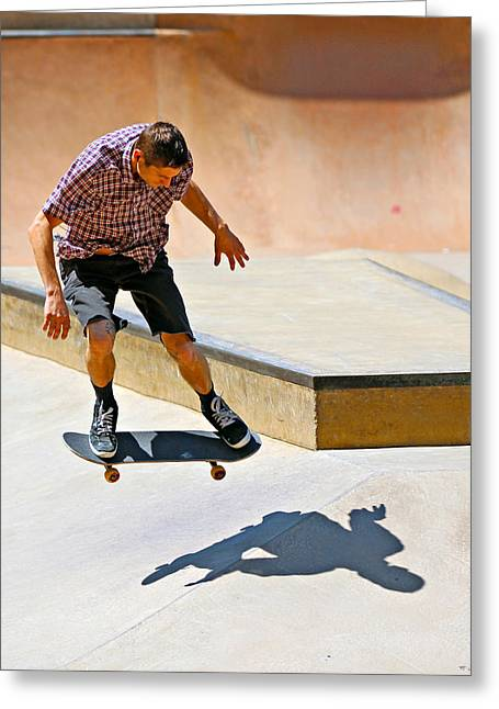 Skateboarding Greeting Card by Paul Fell