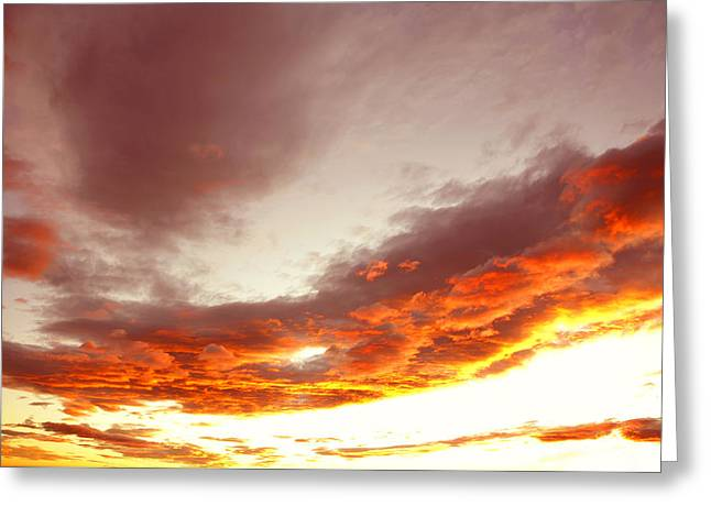 Meteorology Greeting Cards - Sky Greeting Card by Les Cunliffe