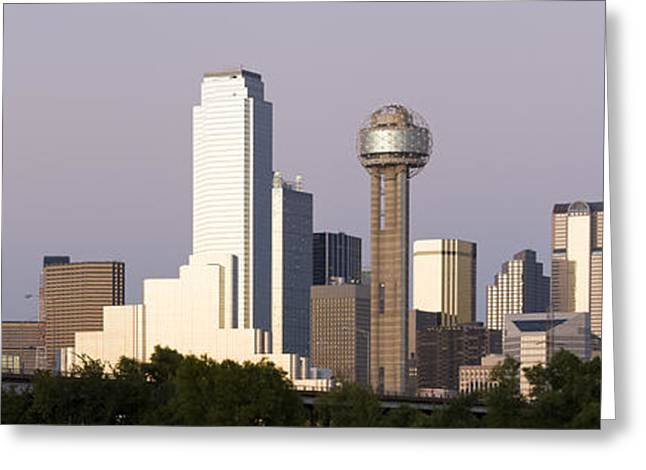 Reunion Greeting Cards - Skyscrapers In A City, Reunion Tower Greeting Card by Panoramic Images