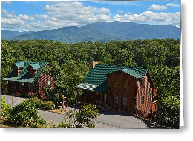 Smoky Greeting Cards - Smoky Mountain Cabins Greeting Card by Frozen in Time Fine Art Photography