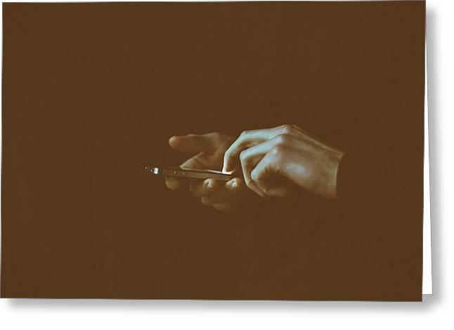 Keeping In Touch Photographs Greeting Cards - Social Obsession  Greeting Card by Gilles Lambert