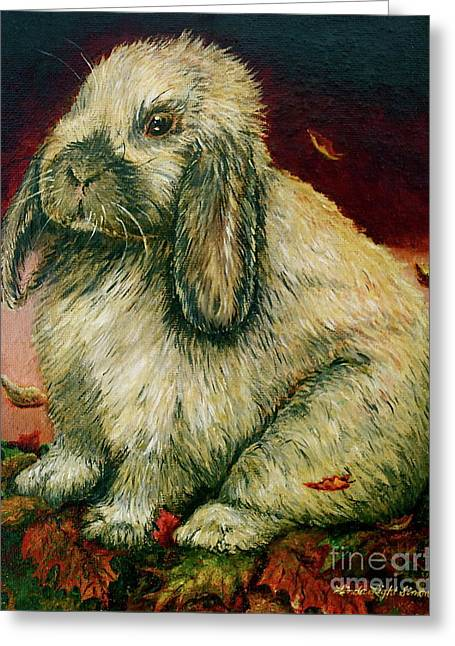 Linda Simon Wall Decor Greeting Cards - Some Bunny is a Honey Greeting Card by Linda Simon