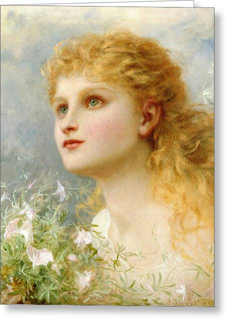 Young Teen Greeting Cards - Heavenwards Greeting Card by Sophie G Anderson