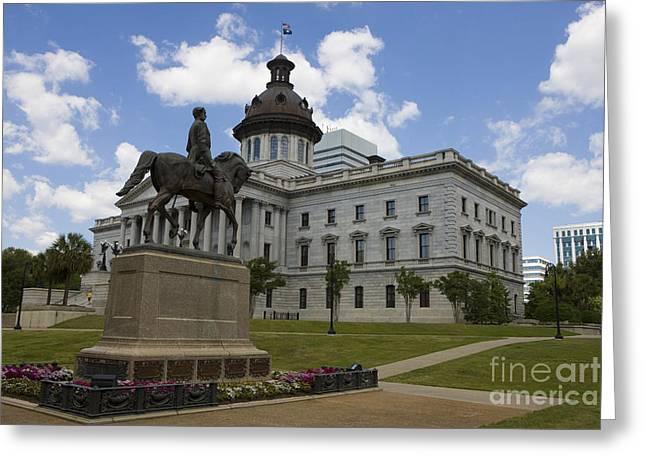 Confederate Flag Greeting Cards - South Carolina State Capitol Greeting Card by Jason O Watson