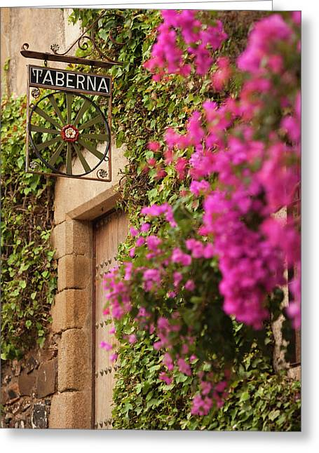 Spain, Extremadura Region, Caceres Greeting Card by Walter Bibikow