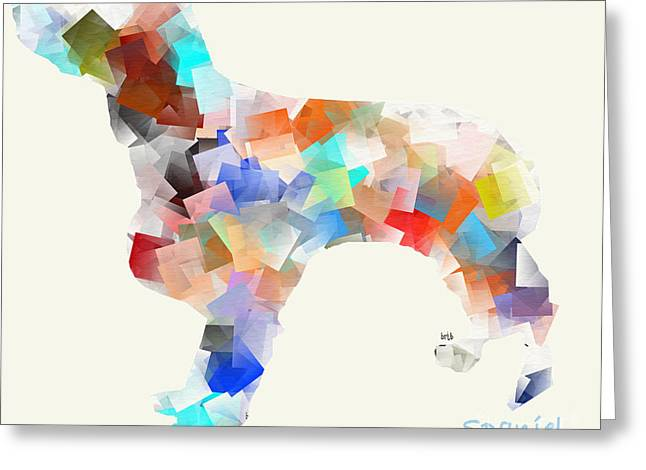 Spaniel Digital Art Greeting Cards - Spaniel Greeting Card by Bri Buckley