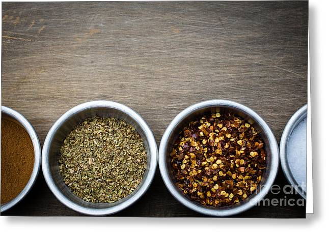 Flavorings Greeting Cards - Spices Greeting Card by Edward Fielding