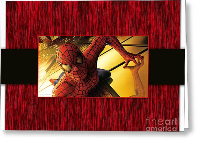 Superhero Greeting Cards - Spiderman Greeting Card by Marvin Blaine