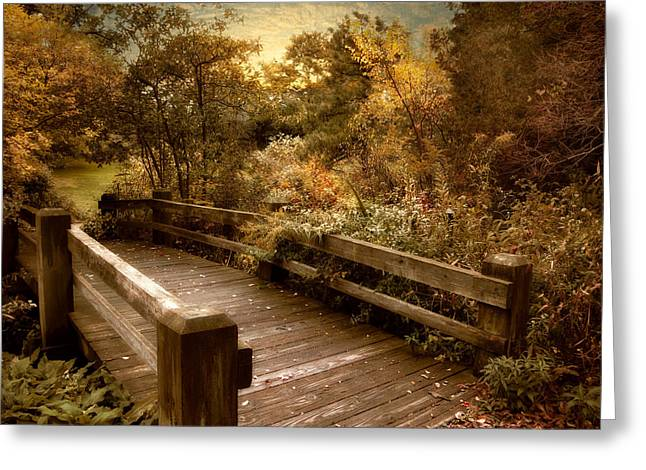 Footbridge Greeting Cards - Splendor Bridge Greeting Card by Jessica Jenney