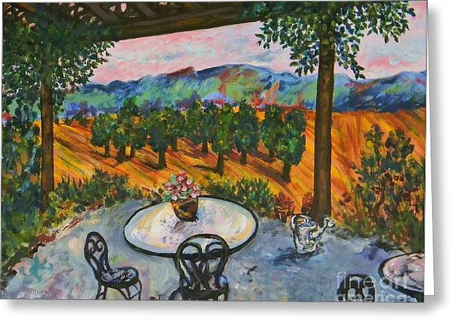 Spot To Wine And Dine Greeting Card by Emily Michaud