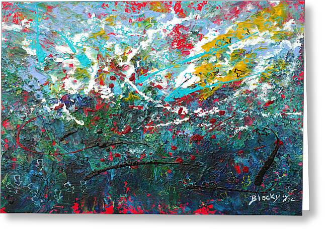 Abstract Expressionist Greeting Cards - Spring Has Sprung Greeting Card by Donna Blackhall