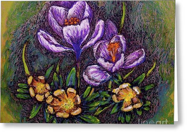 Linda Simon Wall Decor Pastels Greeting Cards - Spring Greeting Card by Linda Simon