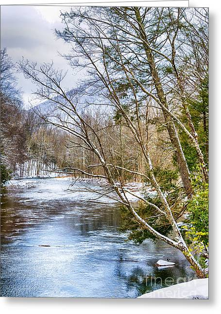 West Fork Greeting Cards - Spring Snow Williams River  Greeting Card by Thomas R Fletcher