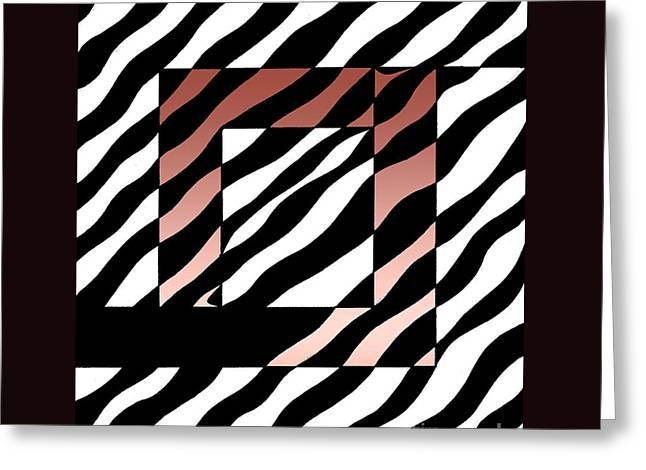 3 Squares With Ripples Greeting Card by Joseph J Stevens