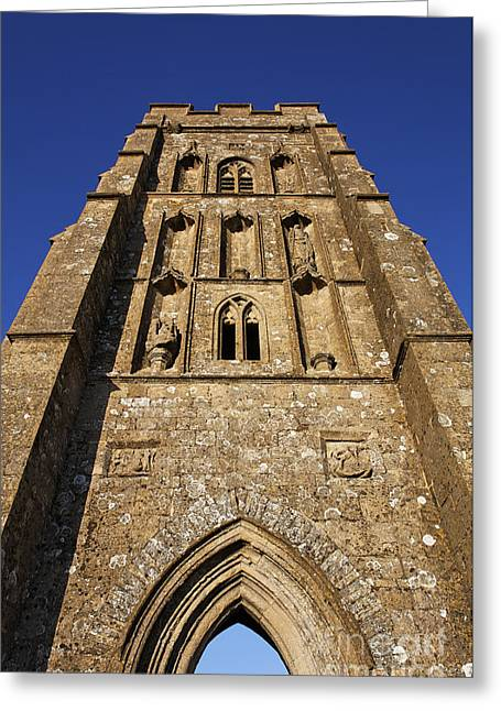 Glastonbury Greeting Cards - St Michaels Tower Glastonbury Tor Greeting Card by Robert Preston