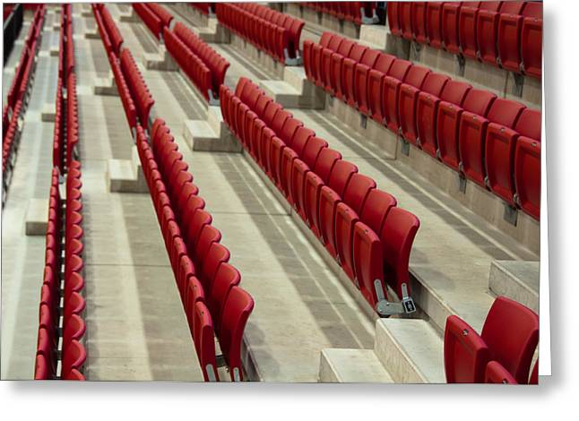 Open Air Theater Photographs Greeting Cards - Stadium Seats Greeting Card by Frank Gaertner
