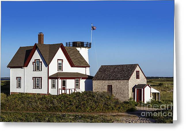 Keepers House Greeting Cards - Stage Harbor Lighthouse Greeting Card by John Greim