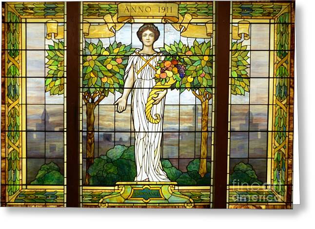 Struckle Greeting Cards - Stained Glass Window Greeting Card by Kathleen Struckle