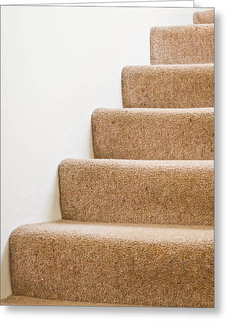 Going Down Greeting Cards - Stairs Greeting Card by Tom Gowanlock