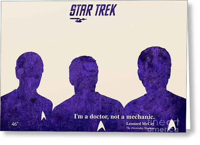 Mccoy Greeting Cards - Star Trek 46th Anniversary - McCoy Quote Greeting Card by Pablo Franchi