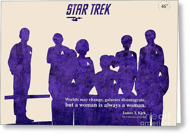 Mccoy Mixed Media Greeting Cards - Star Trek Original - Captain Kirk Quote Greeting Card by Pablo Franchi