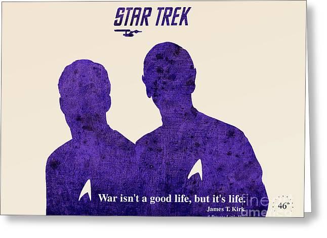 Kirk Paintings Greeting Cards - Star Trek Original Kirk Quote Greeting Card by Pablo Franchi