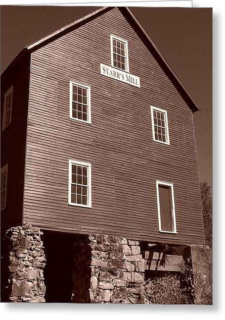 Starr's Mill Ga Greeting Card by Jake Hartz