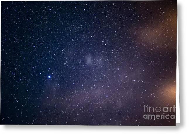 Nikon D800 Greeting Cards - Stars over Appalachian Mountains Greeting Card by Thomas R Fletcher