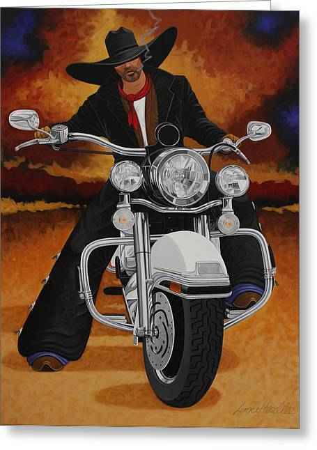 Arizona Contemporary Cowboy Greeting Cards - Steel Pony Greeting Card by Lance Headlee