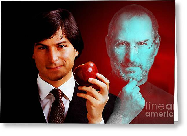 Color Image Greeting Cards - Steve Jobs Greeting Card by Marvin Blaine