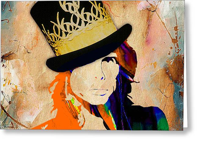 Tyler Greeting Cards - Steven Tyler Collection Greeting Card by Marvin Blaine